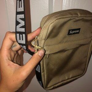 Supreme tan shoulder bag